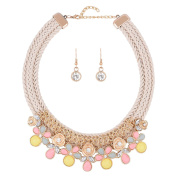 Woman Alloy Necklace Diamonds Double Stock Preparation Exaggeration Clavicle Chain