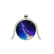 Nebula Pendant Necklace Art Handmade Vintage Chain Choker Statement Necklace