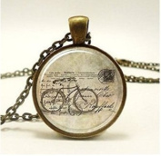 Bicycle Necklace, Hipster Vintage Style Bike Pendant, Bronze Necklace