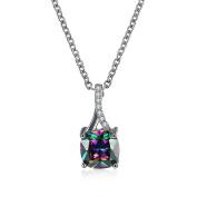 Necklace pendants Rainbow Mystic Topaz Platinum Plated pendants for womens P2001