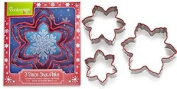 Cooksmart Kids Christmas Snowflake Nesting Cookie Cutter Set Stainless Steel Sil