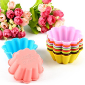 10pcs Flowers Shape Silicone Muffin Cases Cupcake Liner Bake Mould Chocolate Soap