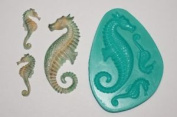 Sea Horse Sugarcraft Silicone Rubber Moulds Cake Decorating Mould Resin Flower