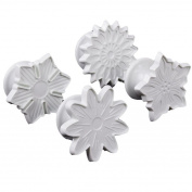 Flowers Theme Fondant Plunger Set Sugarcraft Cutter Cake Decorating