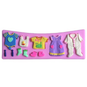 Karen Baking Baby Clothes Shape 3d Silicone Cake Mould For Cake Fondant
