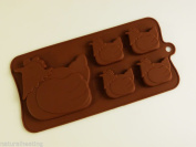 4+1 Chicken Hen Chocolate Slab Bar Mould Silicone Bakeware Mould Candy Resin Soap