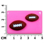 Rugby Balls / American Footballs Silicone Mould Mould For Cake Decorating Cake By
