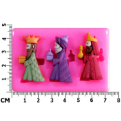 Three Wise Men Kings Nativity Christmas Silicone Mould Mould For Cake Decorating