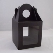 10 X Large Black Single Cupcake / Muffin / Fairy Cake Boxes With 2 Windows. Free