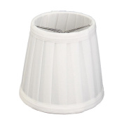 TOOGOO(R) Vintage Fabric Lamp Shade Table Desk Bed Lamp Cover Holder Chandelier White