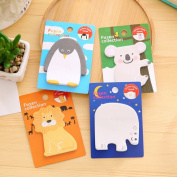 Tag Post-it cute animal animal lion penguin white bear koala interesting stationery miscellaneous goods stationery 20 pieces desk work-adaptive hmp-039