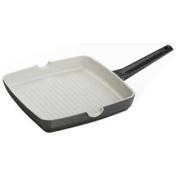 28cm Square Griddle Frying Pan Kitchen Cookware Heavy Duty Aluminium Non Stick D5
