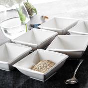 Malacasa 15cm x 15cm Porcelain Cereal Rice Soup Bowls China Ceramic Dinner Set