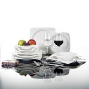 Malacasa Rosana 12x Ceramic Dinnerware Set Porcelain Soup Dinner Side Plates
