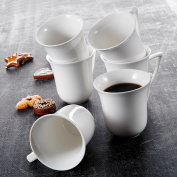 Malacasa 15cm x 12cm Porcelain Cups China Ceramic Coffee Tea Water Mugs Set 290ml