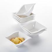 Malacasa Flora 20cm x 12cm ceramic Square Breakfast Soup Cereal Bowl China Tableware