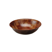 15cm Round Woven Fruit Snack Dessert Salad Weave Wooden Serving Kitchen Bowl New