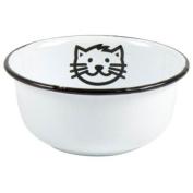 Vintage Style White Enamel Pet / Cat Food Or Water Bowl By Ib Laursen