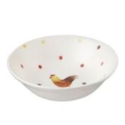 Alex Clark Rooster Mint Oatmeal Bowl, Multi-colour, 15.5 Cm