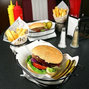 Retro Burger And French Fry Basket | Fast Food Basket With Chip Cone Holder