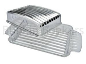 Clear Real Butter Dish Box Holder Tray With Transparent Lid Fridge Storage 38d