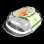 Hobby Life Plastic Butter Dish - Kitchen Fridge Storage Holder Tray Box Clear