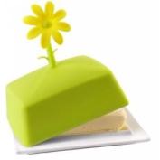 Vialli Design Livio Silicone Butter Dish, Green