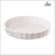 La Porcellana Arezzo Tart Baking Dish Cm 18 Gb, White
