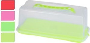 "Green 12""/34cm Rectangle Cake Cheese Dome Cover W/ Lockable Lid Plastic Storage"