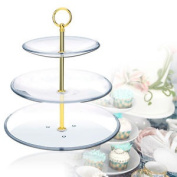 10 X Metal Gold Mini Round 3 Tier Plate Cake Stand Centre Handle Sets Fittings