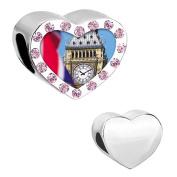 Uniqueen London Big Ben Clock Dangle Charms for European Bracelet Necklace