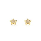 18ct Yellow Gold star children's Earrings