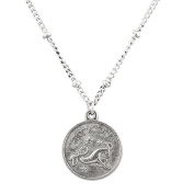 Lux Accessories Burnish Silver Capricorn Astrological Pendant Charm Necklace