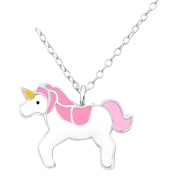 Laimons Childrens' Pendant with Chain unicorn colourful 925 Sterling silver