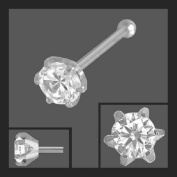 Nose Stud Nose Piercing Goblet with Zirconia 925 Silver Ace 2.5 mm and Ball