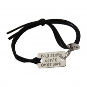 My Story Isn't Over Yet Mental Health Awareness Semicolon Adjustable Bracelet Bangle and Necklace