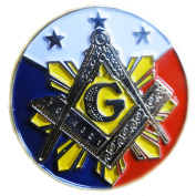 Large Pin/Freedom Equality Fraternity Square and Compass Masonic Frank