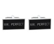 Mr Perfect Shirt Cufflinks In Onyx Art Cufflink Box