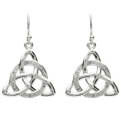 ShanOre Platinum Plated Celtic Trinity Knot Drop Earrings