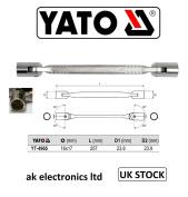 Yato Professional Bi Hex Double Head Flexi Swivel Socket Wrench Spanner 16+ 17mm