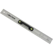 "24"" Rule With Spirit Level - 24 Aluminium 600mm Ruler Two Vials Handle Metric"