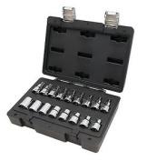 Beta Tools 923 E-ftx/c17 Easy Quality Torq E Socket Set, Black, 1.3cm , Set Of