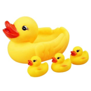 Children Bathtime Floating Squeaky Yellow Ducks With 3 Ducklings And Mother Duck