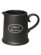 Tuftop Company Ascot Black 1 Pint Jug Pitcher Milk Cream Water Ceramic New