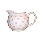 Nina Campbell Bone China Small Cream Jug Pink Hearts Design Dining Kitchen