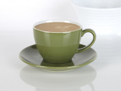 Randwyck Green Stoneware Coffee Cup & Saucer