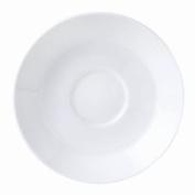 "12x Steelite Monaco White Saucers 117mm/4 1/2"" Party Plate Freezer Safe"