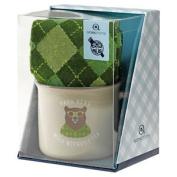 Aroma Home Ceramic Mug & Men`s Socks - Papa Bear