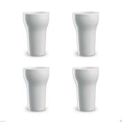 4 Classic White 350ml Ceramic Mugs Coffee/latte/h