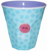 Melamine Medium Cup Two Tone Stardust Print Lavender By Rice Dk